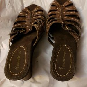 Bare Traps Wedge Heels Brown Sandals Size 8.5 M